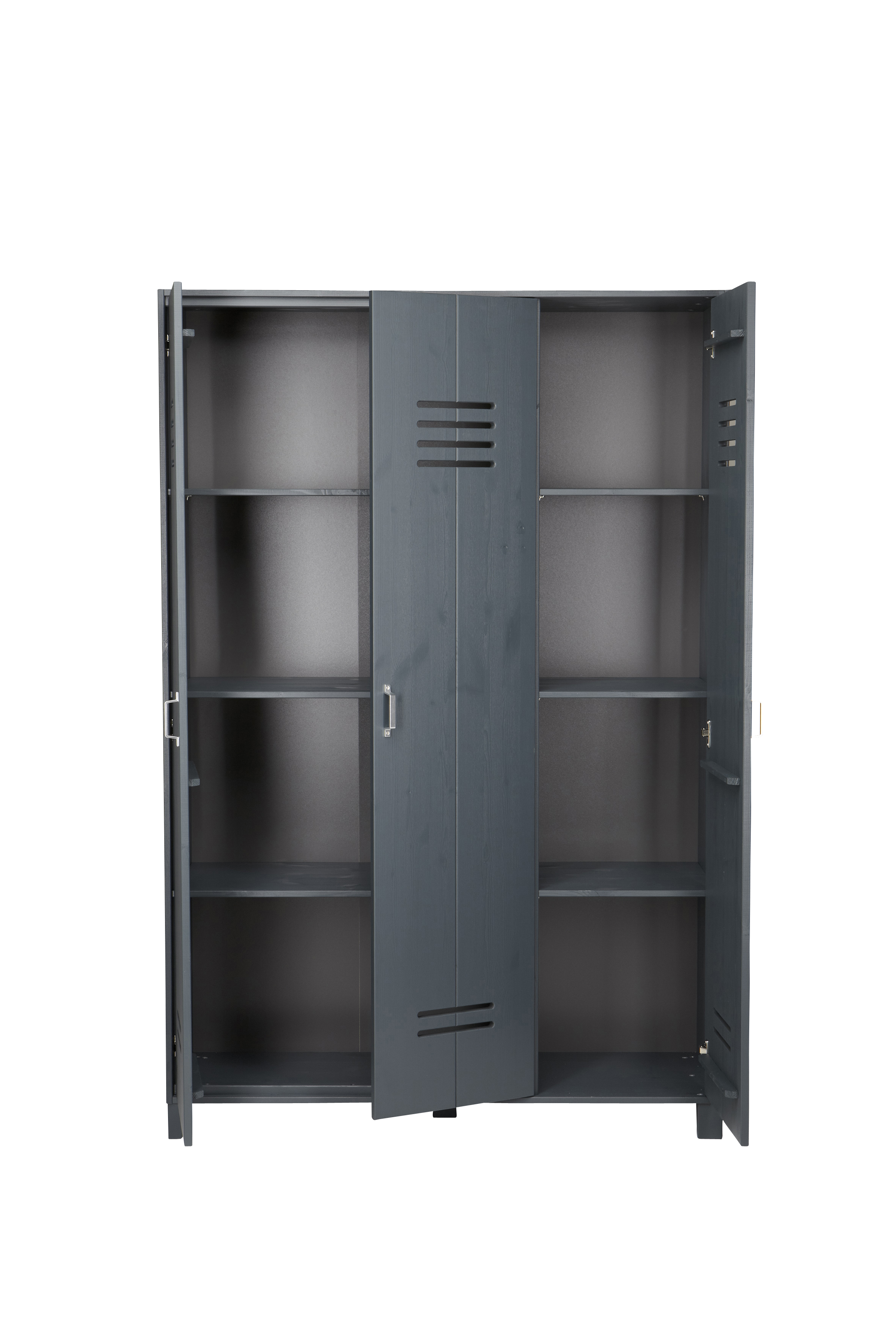 Locker Wardrobe Brushed Dark Grey Nest Designs