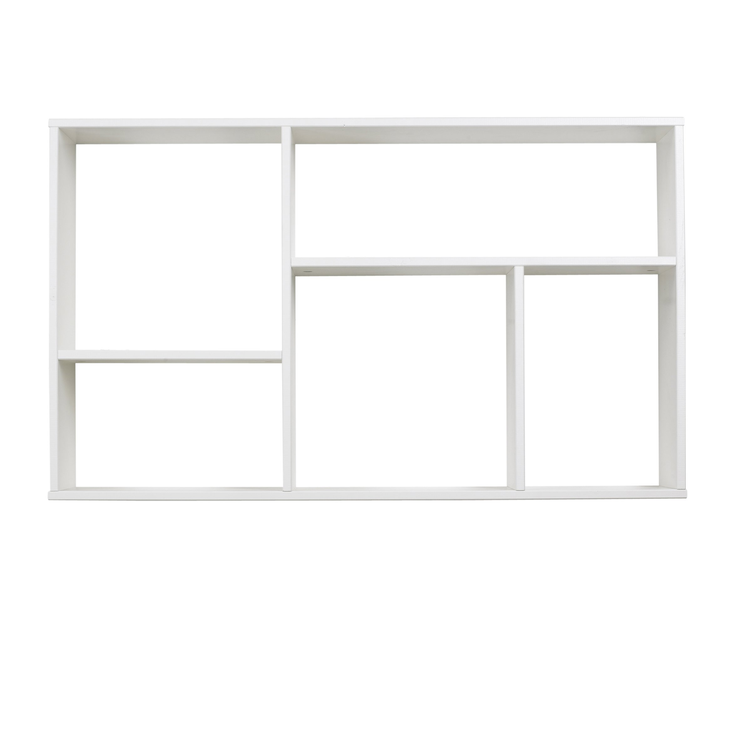wall shelf with 5 compartments brushed white nest designs