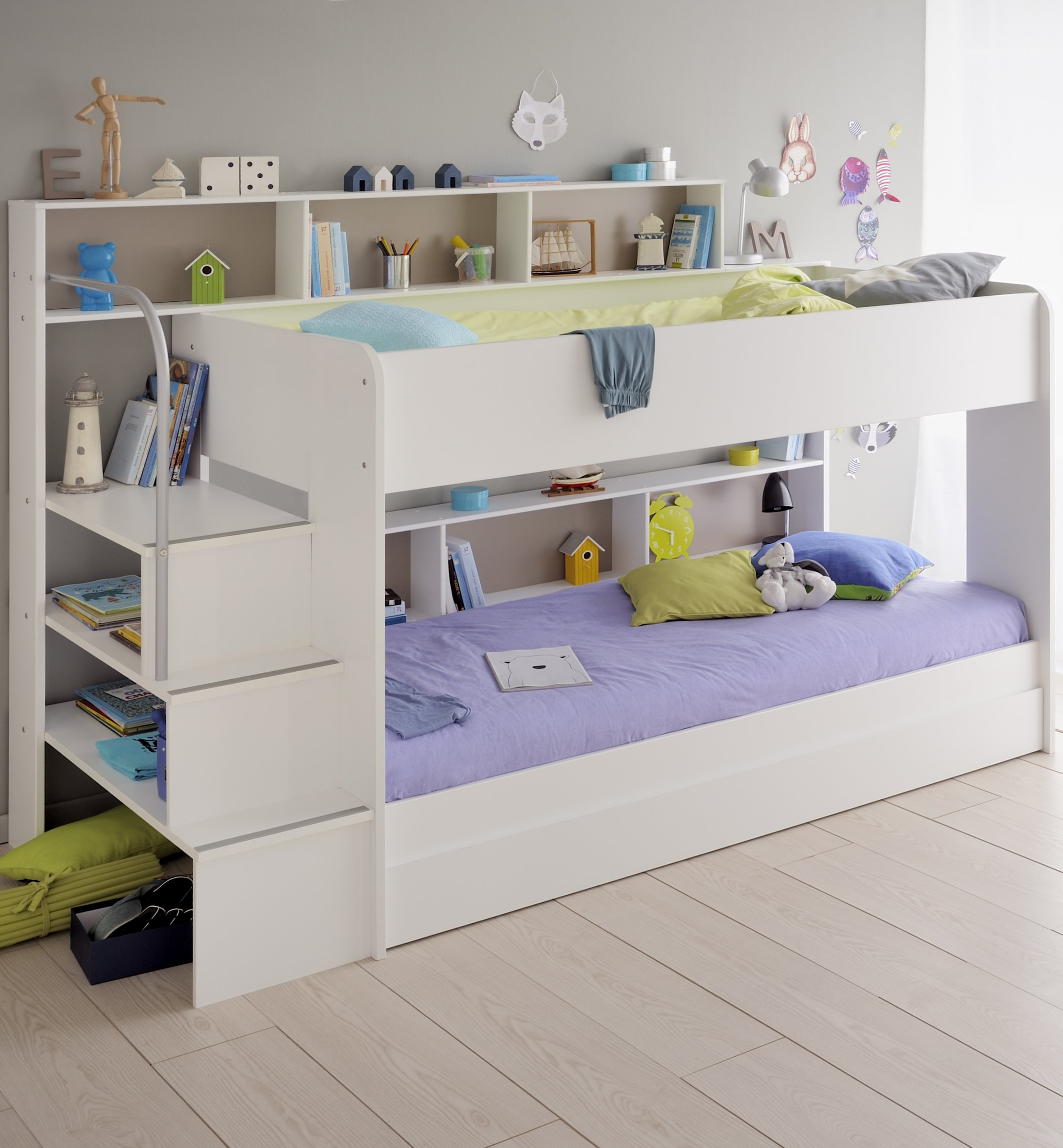 Boy and Girl Bunk Beds with Storage 2152 x 2324