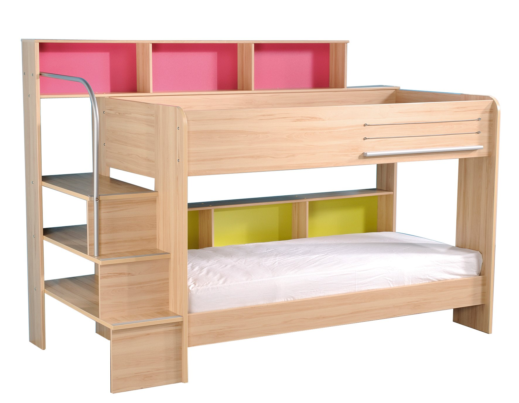 Lovely white ikea bunk beds on pink bedroom ideas for girls teen with