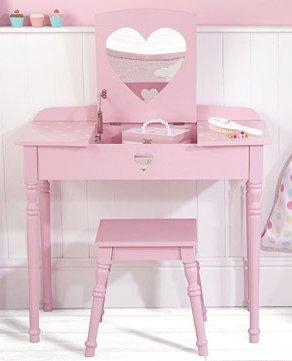 Girls Dressing Table : Valentine-Dressing-Table-and-Stool-Set-for-Girls-Dressing.jpg