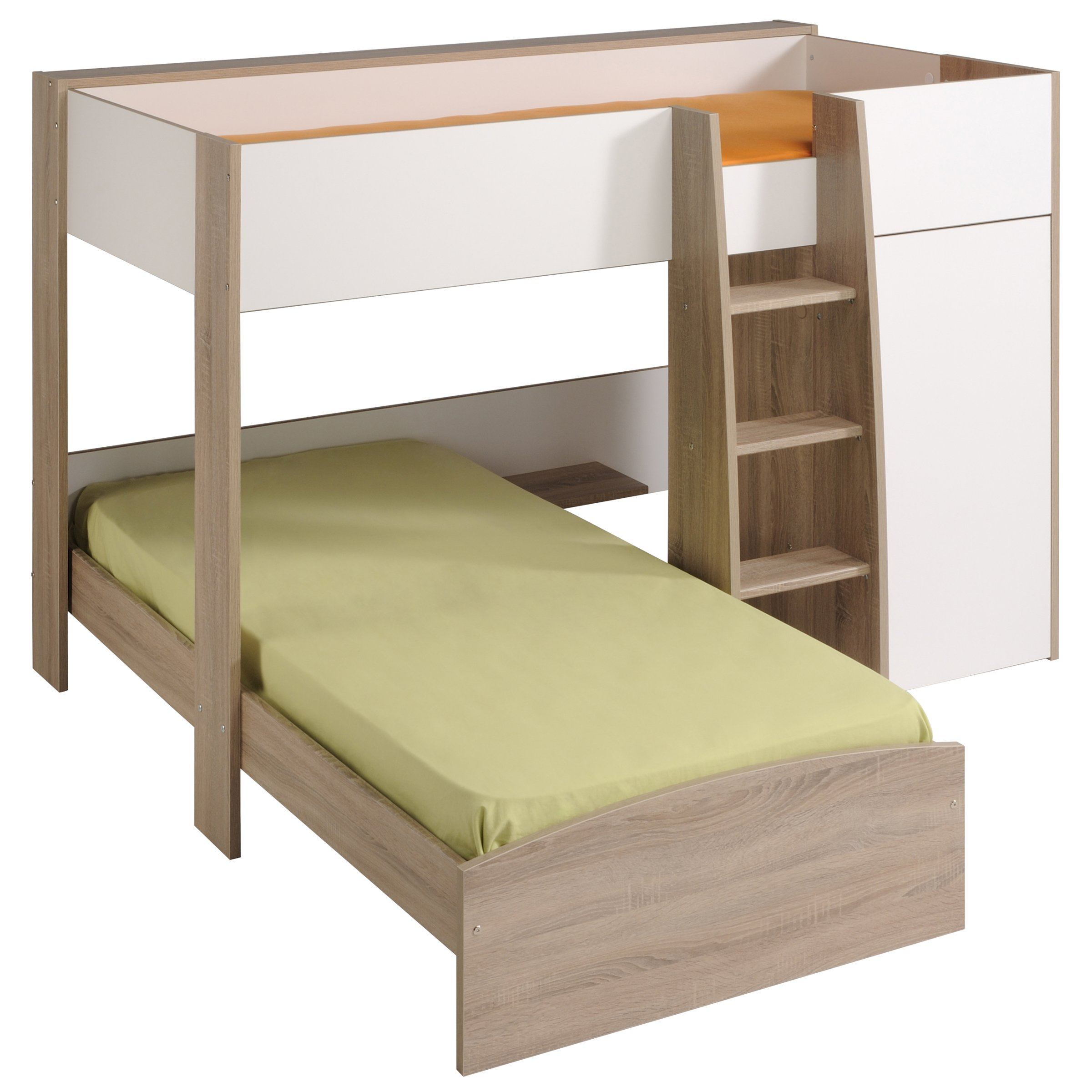 White+L-Shaped+Bunk+Beds Morgan L-shaped bunk bed for Children Bedroom ...