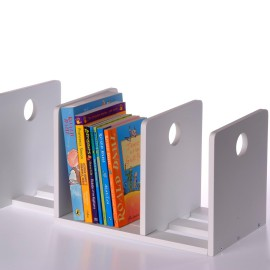 Circles Extending Bookends, White