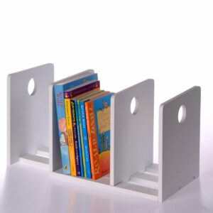 Circle Extending Bookends - White
