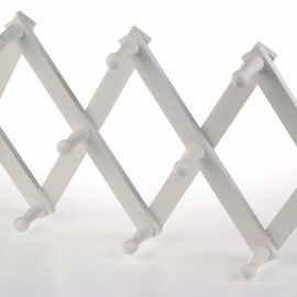 Concertina Peg Rail, White