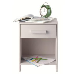 Dennis Nightstand Bedside Table for Kids Children Bedroom Furniture Solid Wood Grey