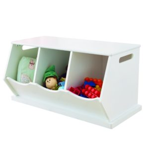 Fulton Triple Stacking Storage Trunk - White