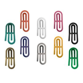 Giant Paper Clip Wall Hook Various Colours for Kids Children Wall Storage Playroom Metal Hanger Peg