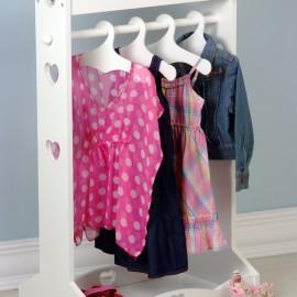 Heart Clothes Rail, White
