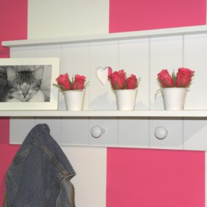 Heart Wall Shelf - White