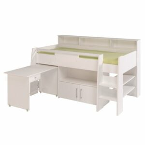 Logan Midsleeper Bed - White