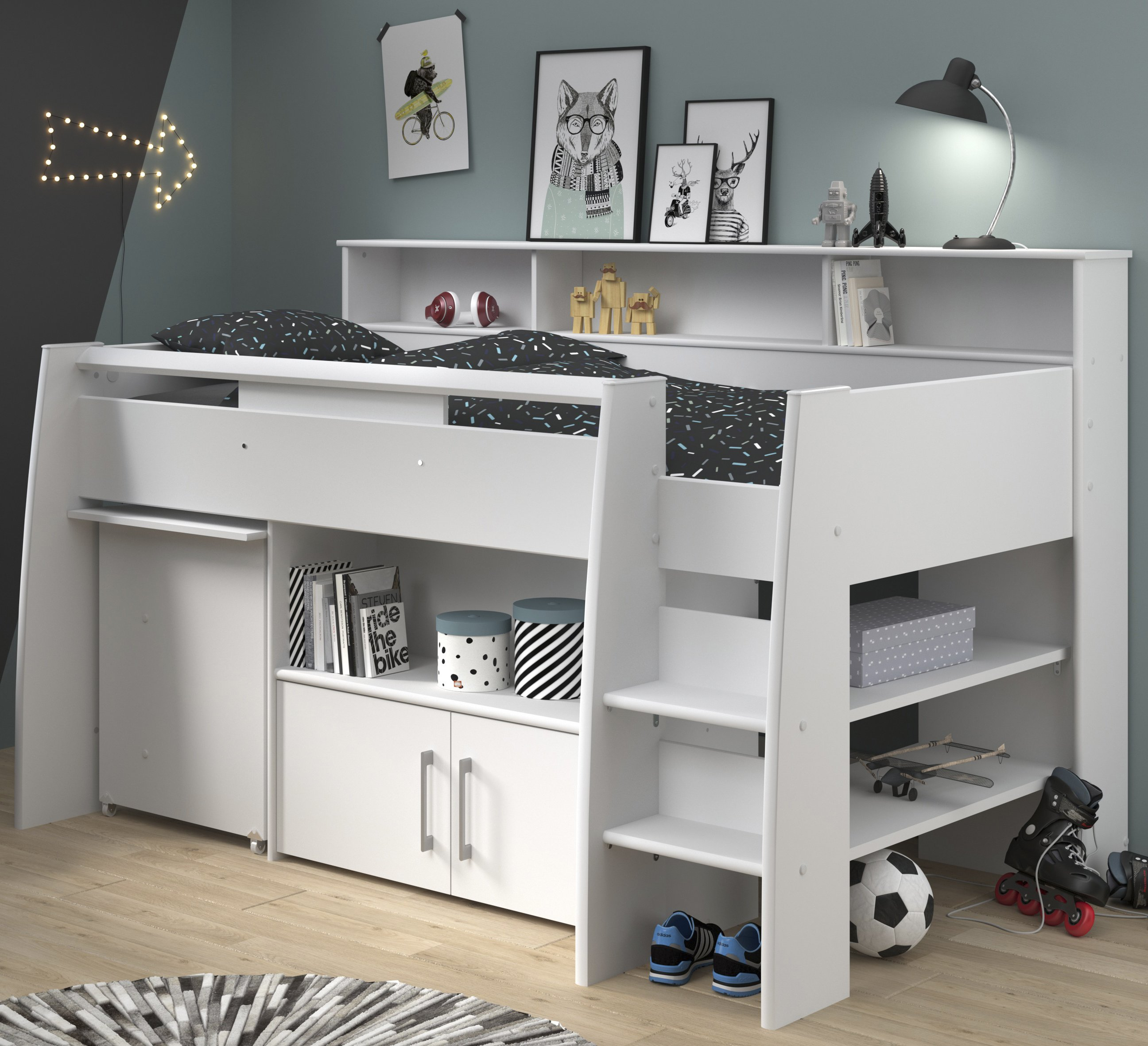 Bed Over Stair Box Google Search: White For Children In S.A
