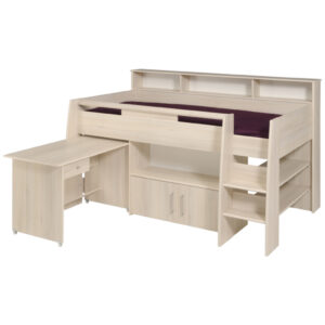 Logan Midsleeper Bed - Light Acacia