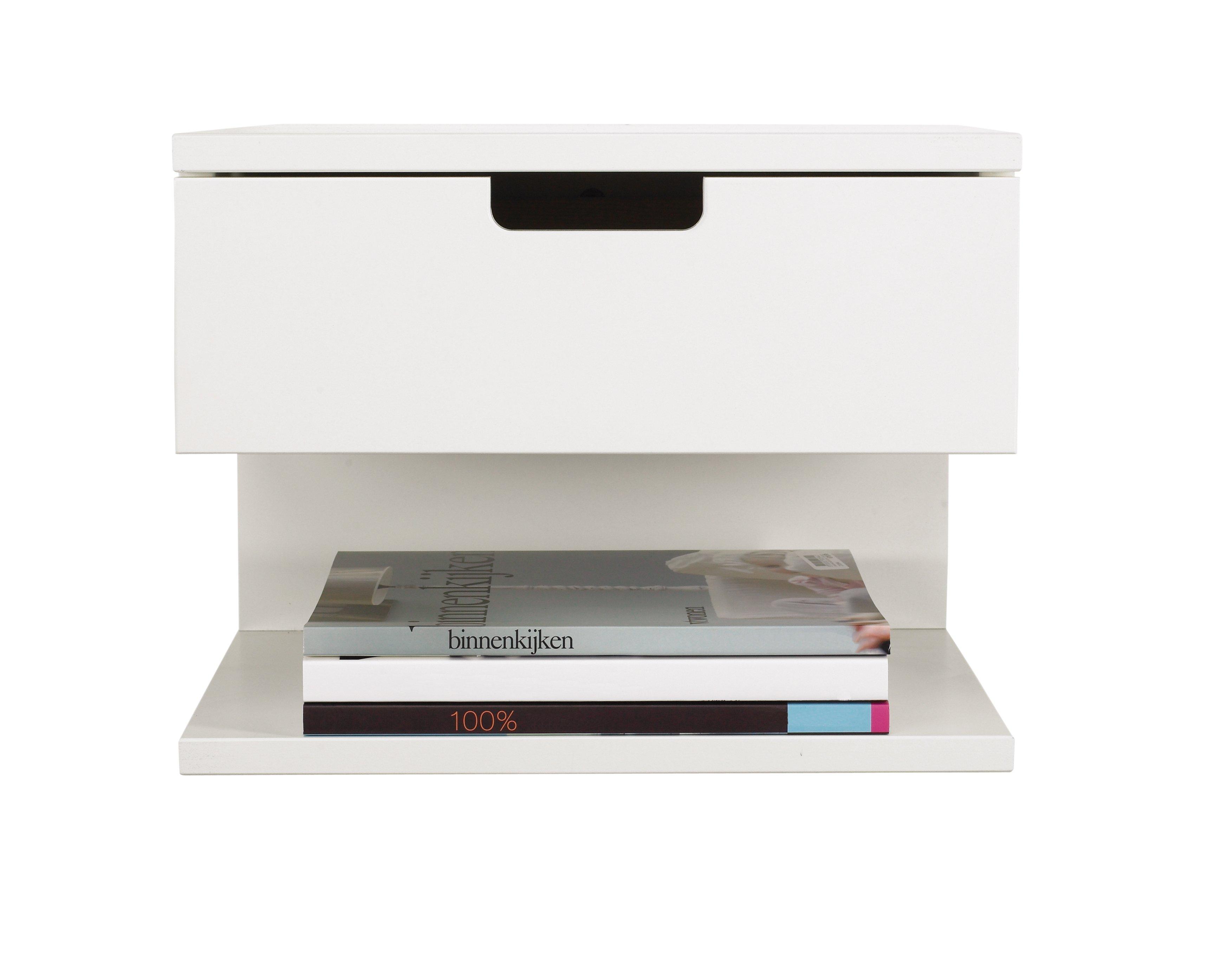 Floating Bedside Shelf With Drawer 16