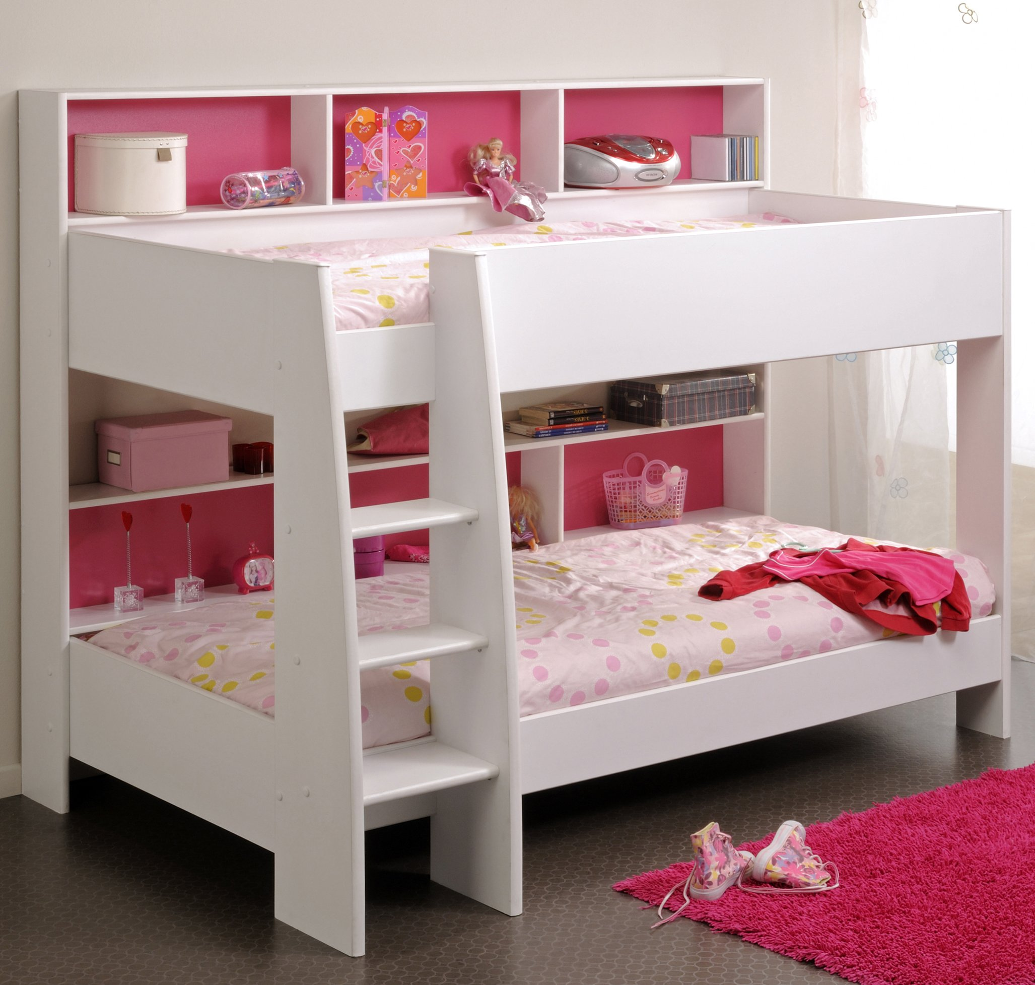 Parker white bunk bed for children kids in s a - Double deck bed designs for small spaces pict ...