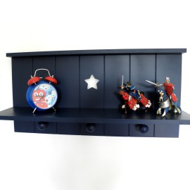 Star Wall Shelf, Navy
