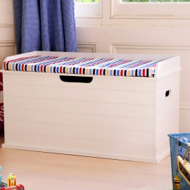 Tongue and Groove Toy Chest, White