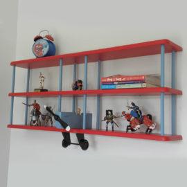 Tri Plane Wall Shelf Aeroplane for Kids Storage
