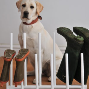 Welly Boot Rack - White