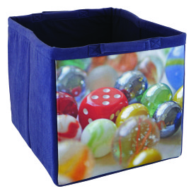 Fabric Storage Tote, Marbles