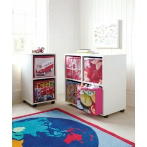 Juicy Fruits 4 Cube Roll-out Cupboard - White by ASPACE