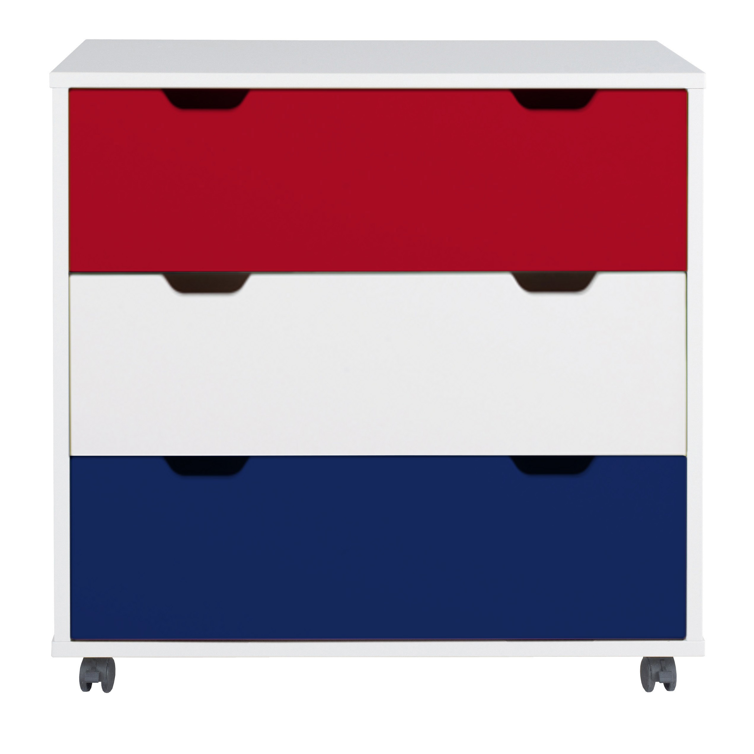 Juicy Fruits chest of drawers - Red/White/Navy by Aspace