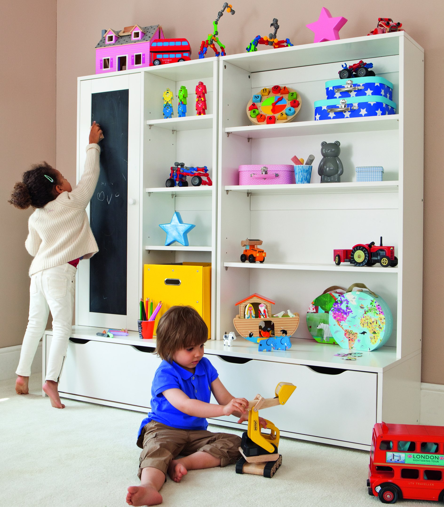 Brighton Wide Shelves By Aspace For Children In Sa Bedroom Furniture