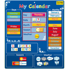 Magnetic My First Calendar Blue