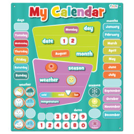My Magentic Calendar for Kids Children Fiesta Crafts Blue Aqua