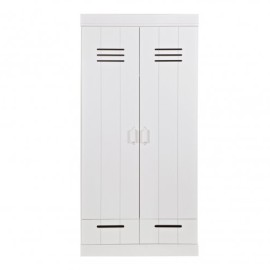 Connect 2-Door Wardrobe with 2 Drawers Closed