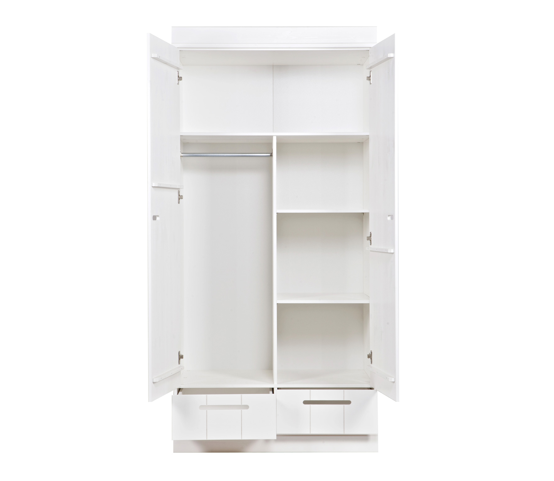 2 Door Cupboard Inside Designs Wardrobe Closet W 2 Doors 2 Shelves And 2 Interior Drawers