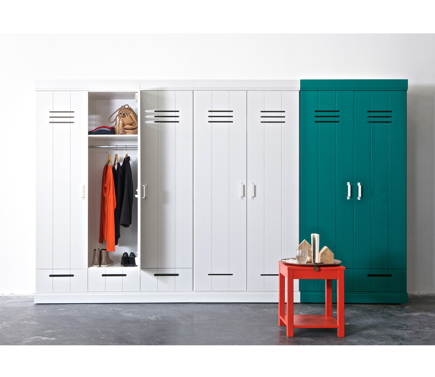 Connect 2 Door Locker Wardrobe Standard Interior Nest