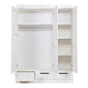 Connect 3-Door Locker Wardrobe With 3 Drawers, Standard Interior