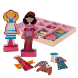 Abby and Emma Dress Up Magnetic Dolls by Melissa & Doug Toys & Games