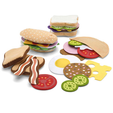 Felt Food Sandwich Set For Pretend Play For Children Kids In S A