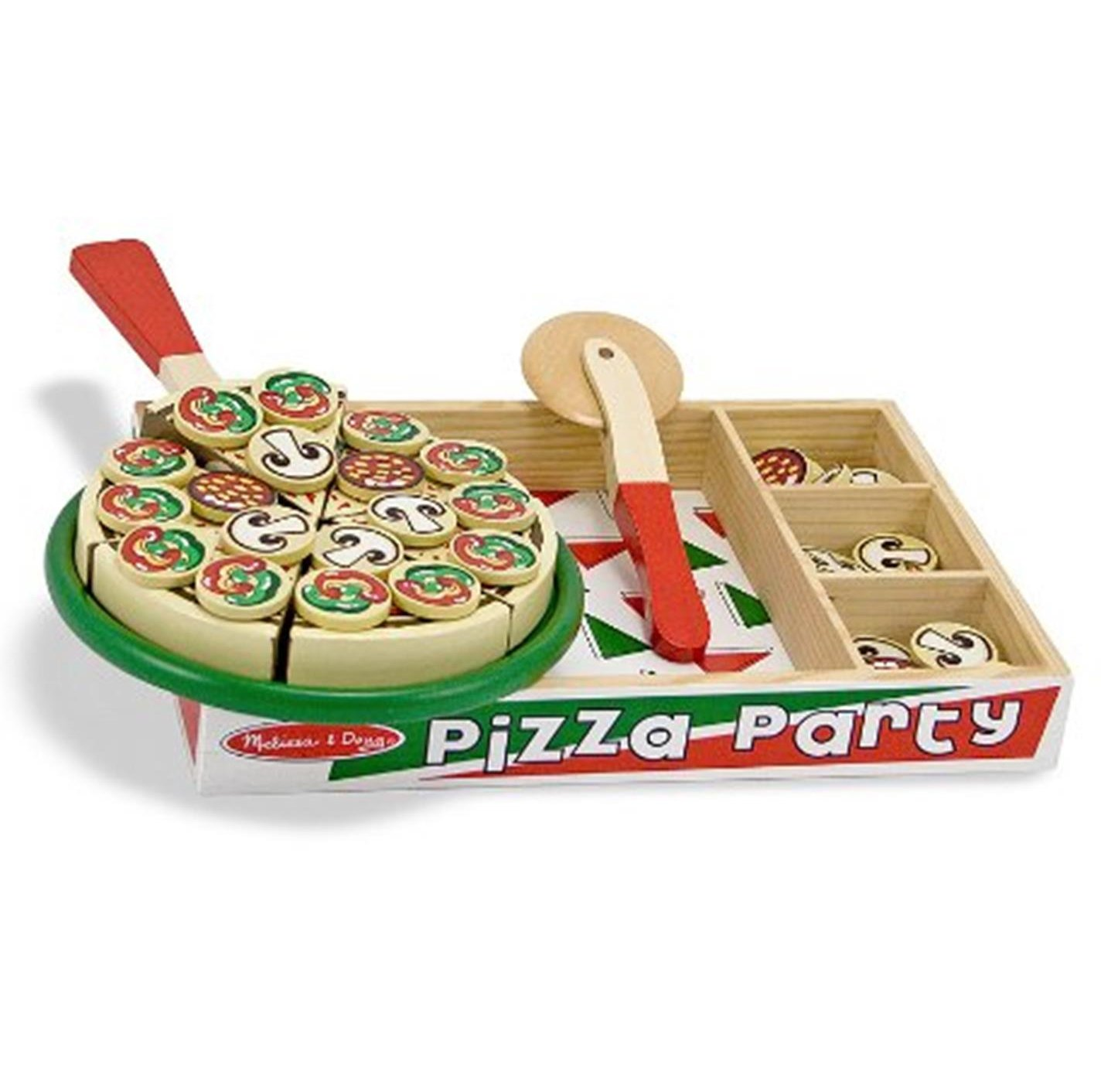 Wooden Pizza Party For Pretend Play For Children Amp Kids