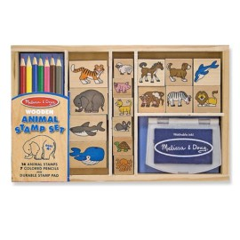Wooden Animal Stamp Set 1 by Melissa & Doug Toys & Games