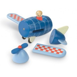 janod-magnetic-wooden-airplane- wooden toys for toddlers early years