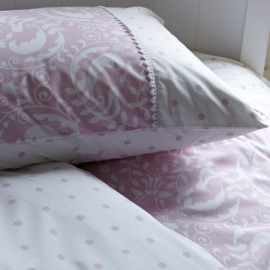 Damask Single Duvet Set for Kids. Pink