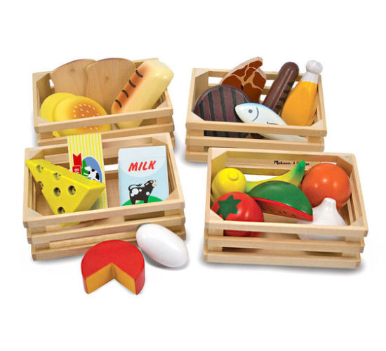 Wooden Food Groups Set