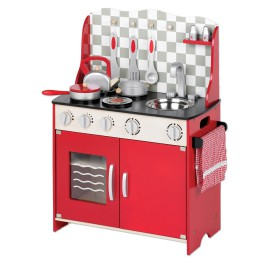 Little Chef's Kitchen Red for Kids Pretend Play Toys and Games