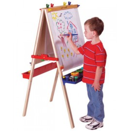Wooden Deluxe Junior Art Easel, Melissa and Doug Arts and Crafts for Kids