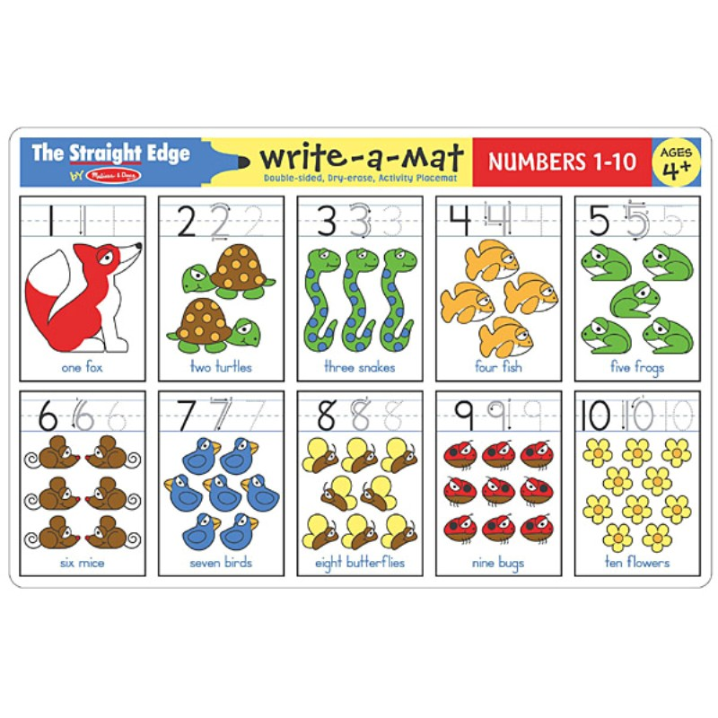 Write A Mat Numbers 1 10 For Children Amp Kids In S A