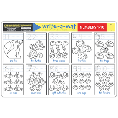 Write-A-Mat Numbers 1-10 for children & kids in S.A.