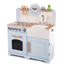 Country Play Kitchen for Kids Children Pretend Play Wooden Toys