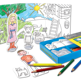 Family Colouring In Carddies Set, Arts and Crafts for Kids