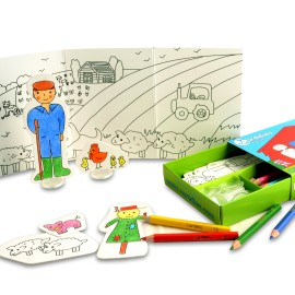 Farm Colouring In Carddies Set, Arts & Crafts for Kids