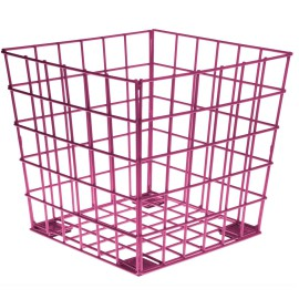 Fuschia Wire Cube, Storage for Kids