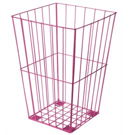 Fuschia Wire Sports Basket, Storage for Kids' Sports Equipment