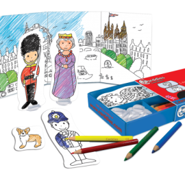 London Colouring In Carddies Set, Arts and Crafts for Children